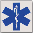 Star of Life Reflective Decals